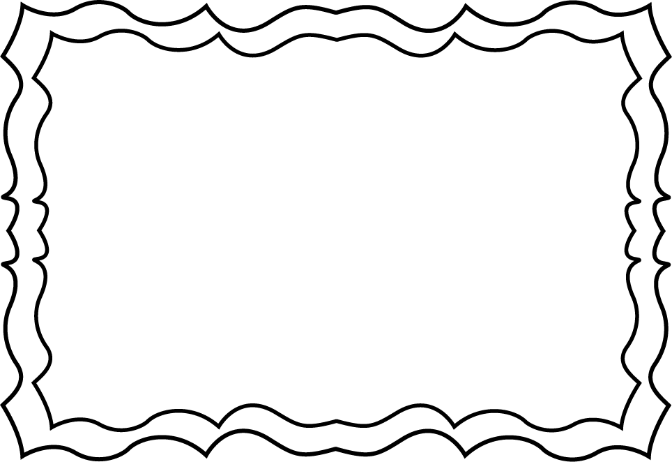 964x662 Black And White Squiggly Frame