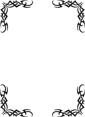 275x380 Cool Borders Clipart