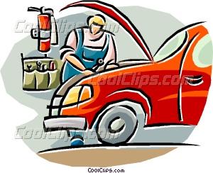 300x244 Auto Mechanic Working On A Car Vector Clip Art