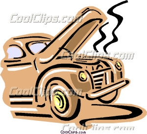 300x273 Old Fashioned Car Overheating Clip Art