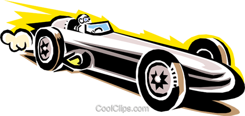 480x227 Late Model Race Car Royalty Free Vector Clip Art Illustration