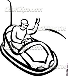 271x300 Person Riding The Bumper Cars Vector Clip Art
