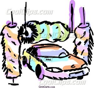 300x282 Car Going Through The Wash Vector Clip Art