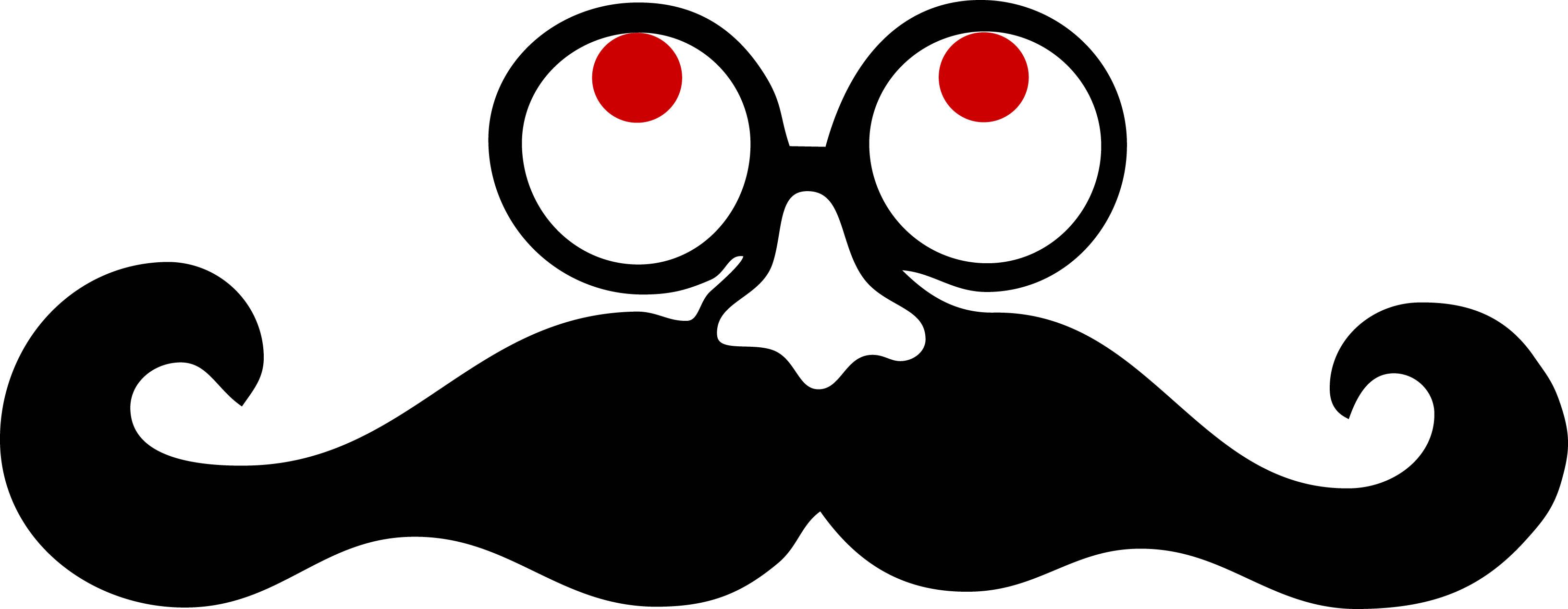 3264x1268 Glass Clipart Moustache Style