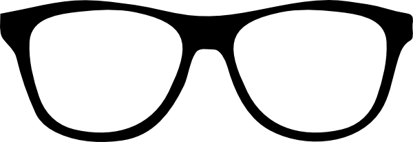 600x207 Black Glasses Clip Art