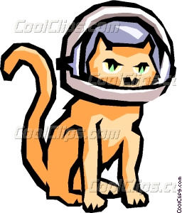 256x300 Cat With Space Helmet Vector Clip Art