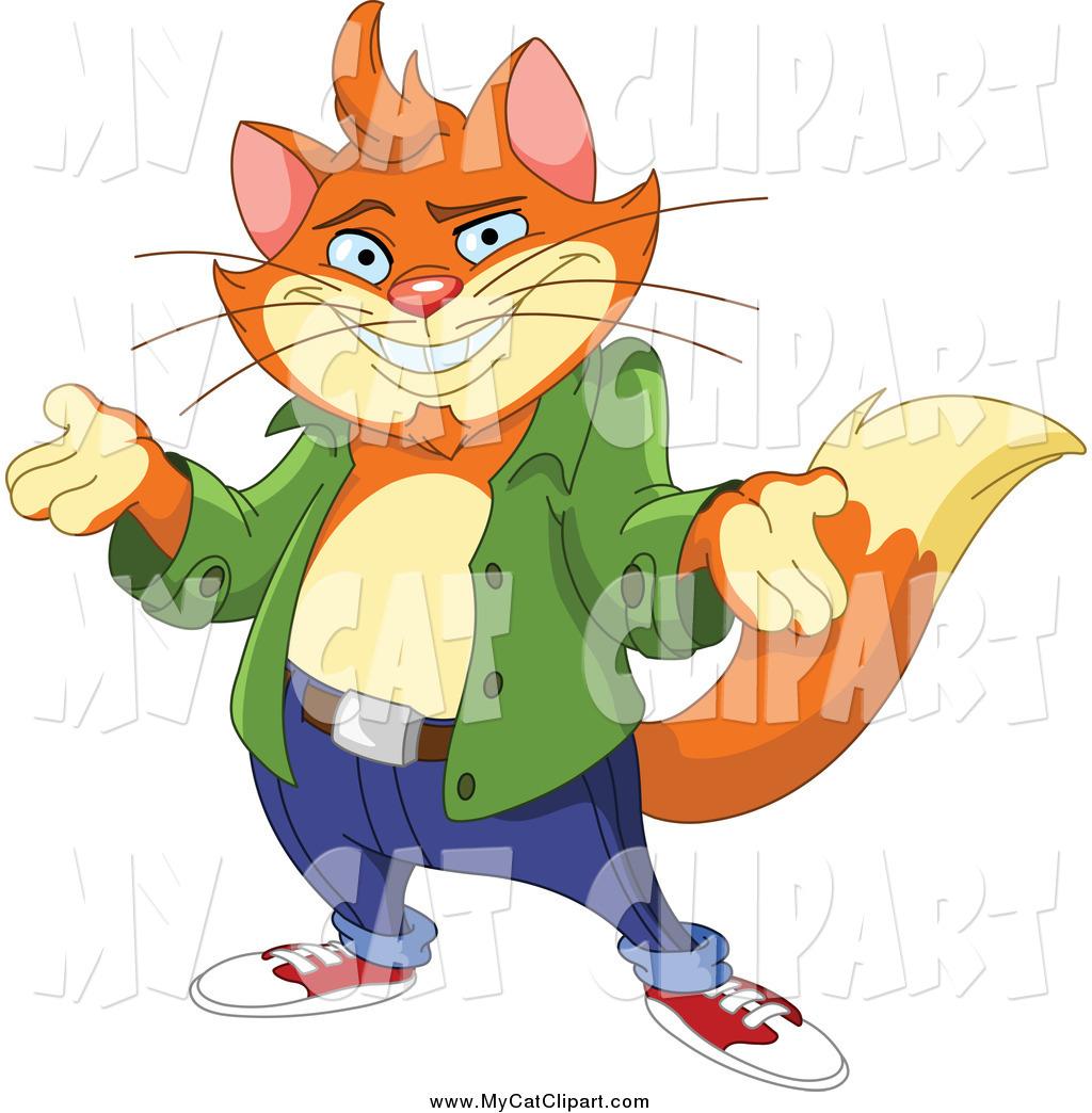 1024x1044 Clip Art Of A Cool Orange Cat Shrugging By Yayayoyo