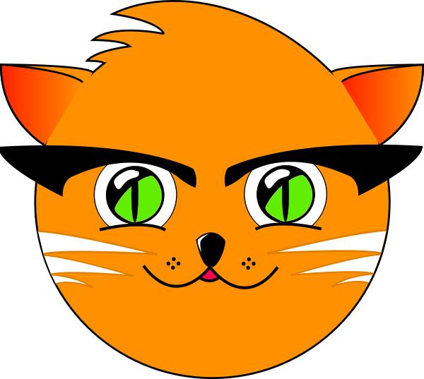600x537 Cool Cat Circle Clip Art Download