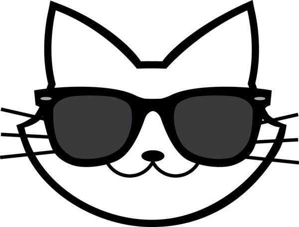 600x455 Cool Cat Clip Art