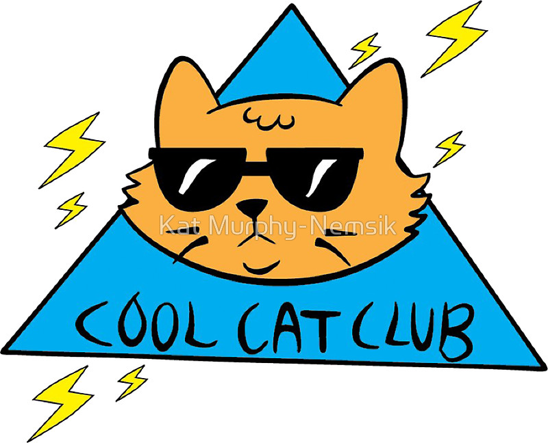 800x648 Cool Cat Club Stickers By Kat Murphy Nemsik Redbubble