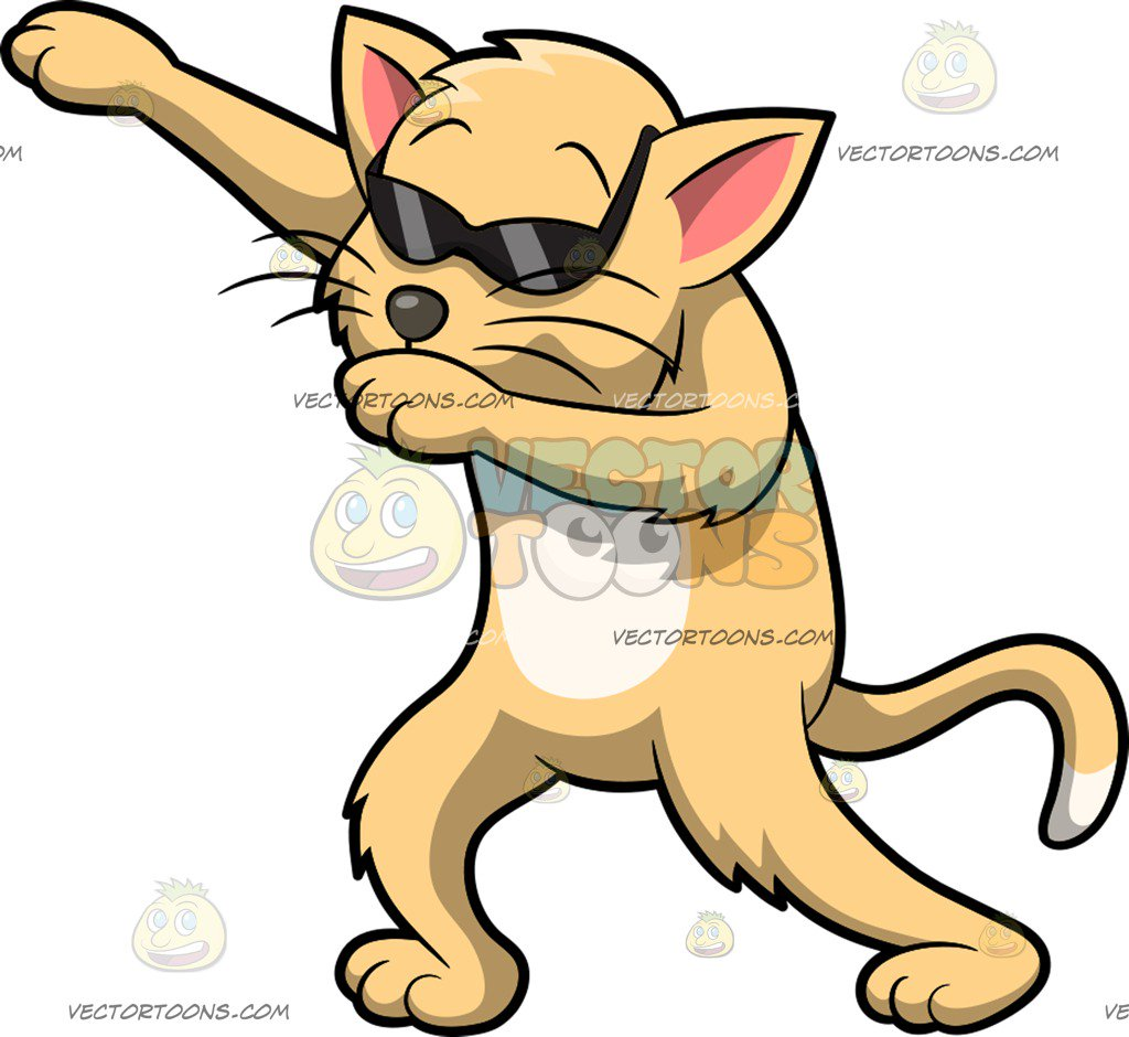 1024x940 Dabbing Cool Cat Cartoon Clipart