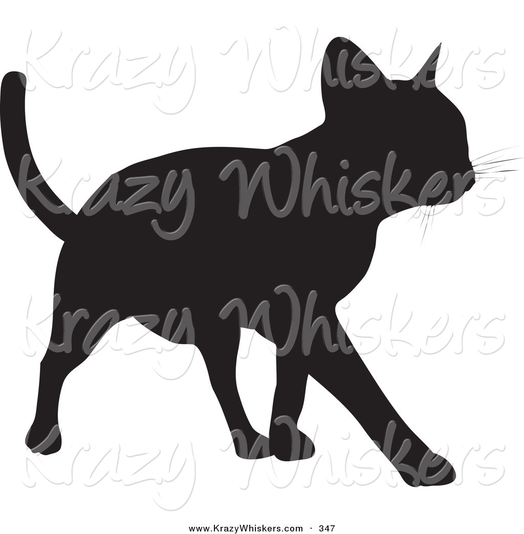 1024x1044 Critter Clipart Of A Cool Cat Silhouetted In Black, Walking