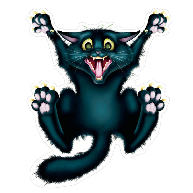 800x800 Etie Car Styling Funny Car Sticker Pegatinas Decal Cool Cat Car