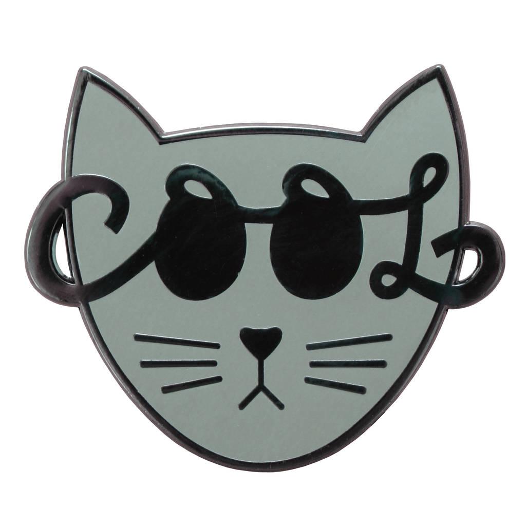 1024x1024 Cool Cat' Enamel Pin By Alphabet Bags