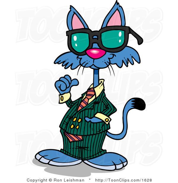 600x620 Chats Rl Cool Cat Wearing Shades Illustrations Chats