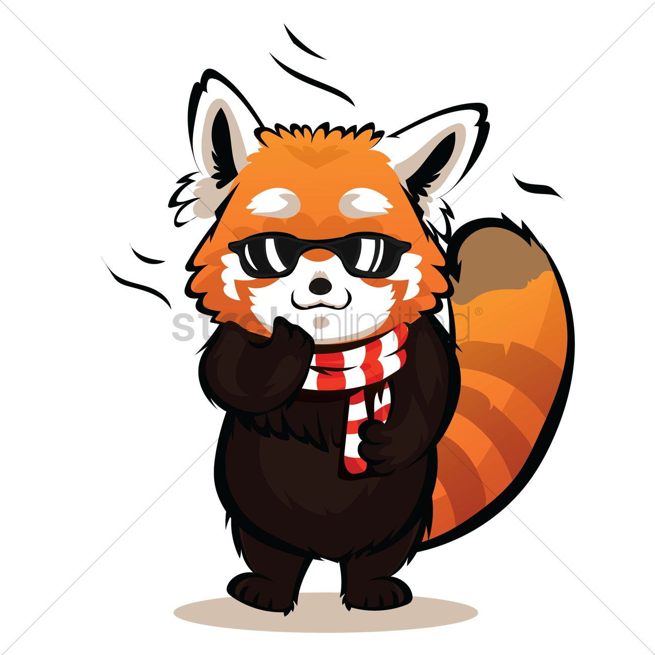 1300x1300 Cartoon Red Panda Being Cool Vector Image 3 Stockunlimited Clip