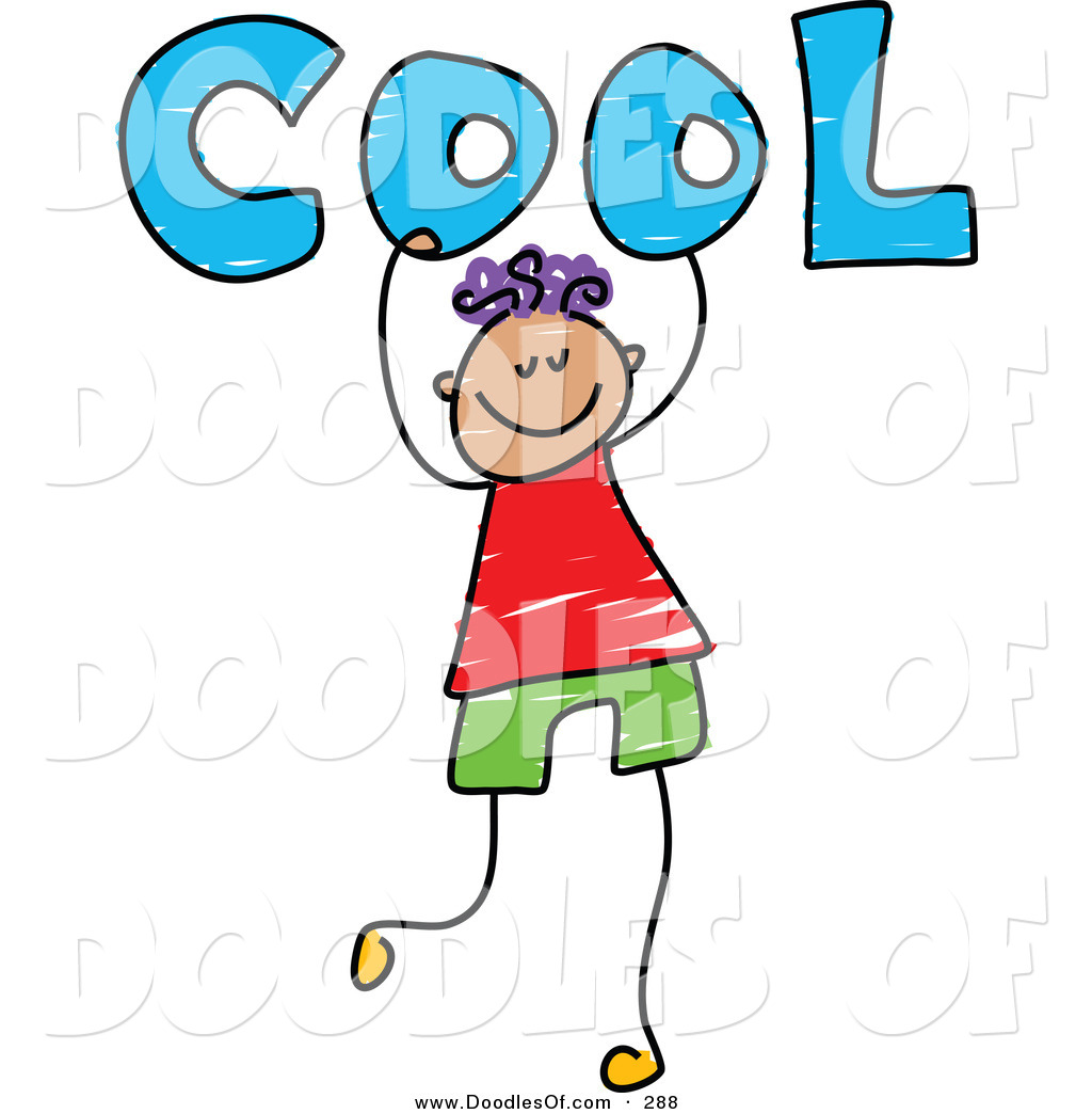 1024x1044 Vector Clipart Of A Childs Sketch Of A Happy Boy Carrying Cool By