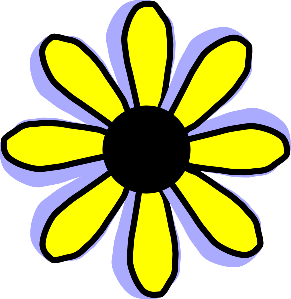 582x599 Yellow Flower Clip Art Many Interesting Cliparts