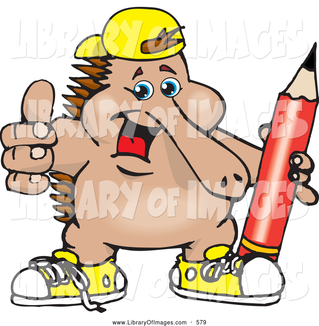 1024x1044 Clip Art Of A Cool Outgoing Echidna Kid Wearing Shoes And A Hat