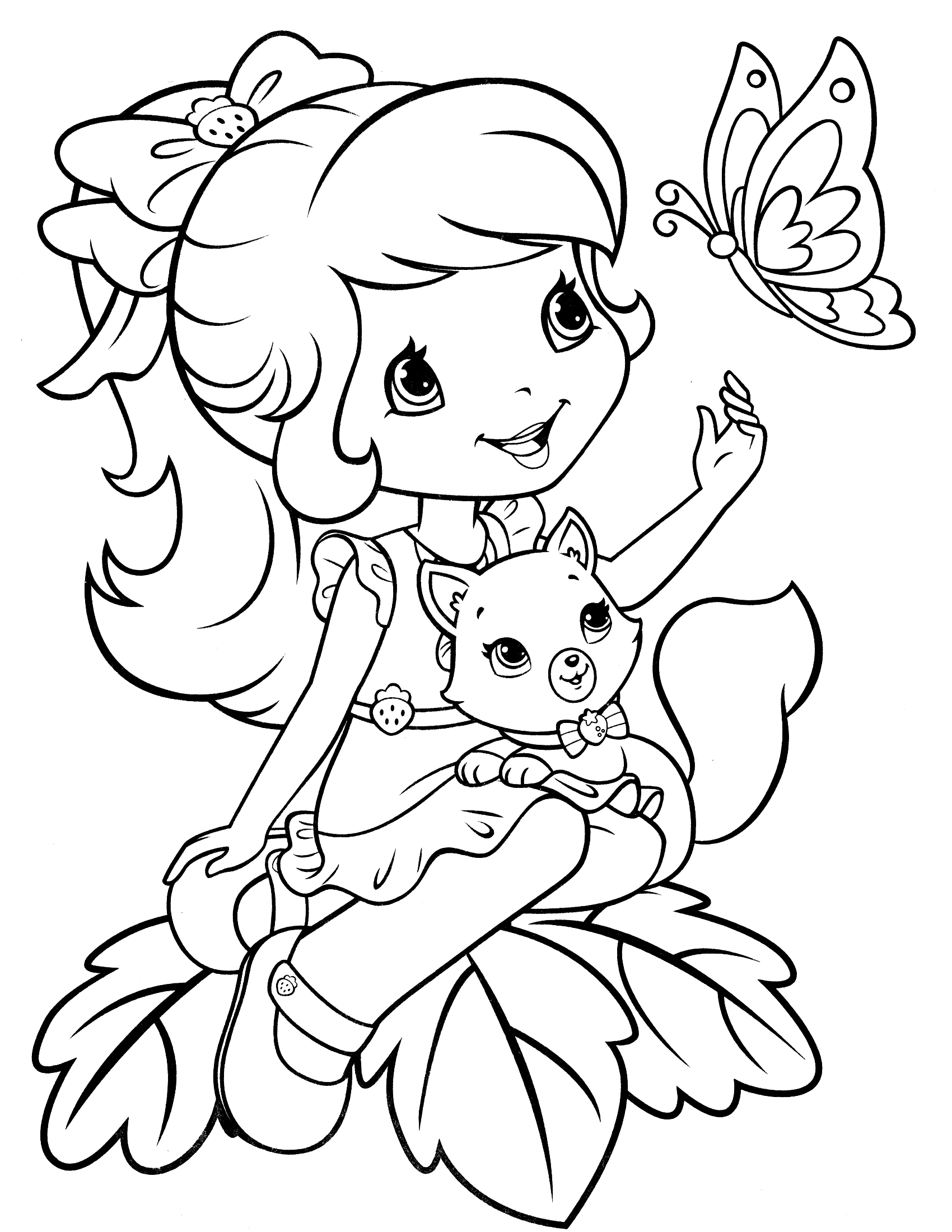 1700x2200 Strawberry Shortcake Coloring Pages Cool Coloring Pages 18