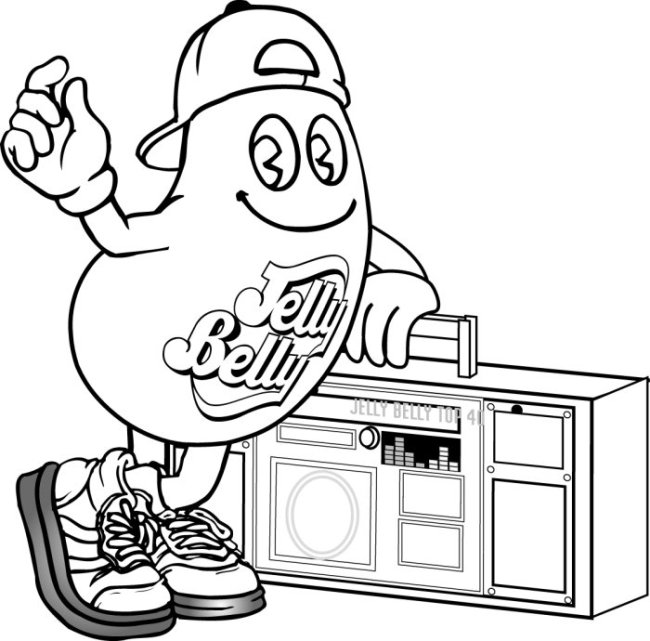 650x641 Coloring Pages Jelly Belly Australia