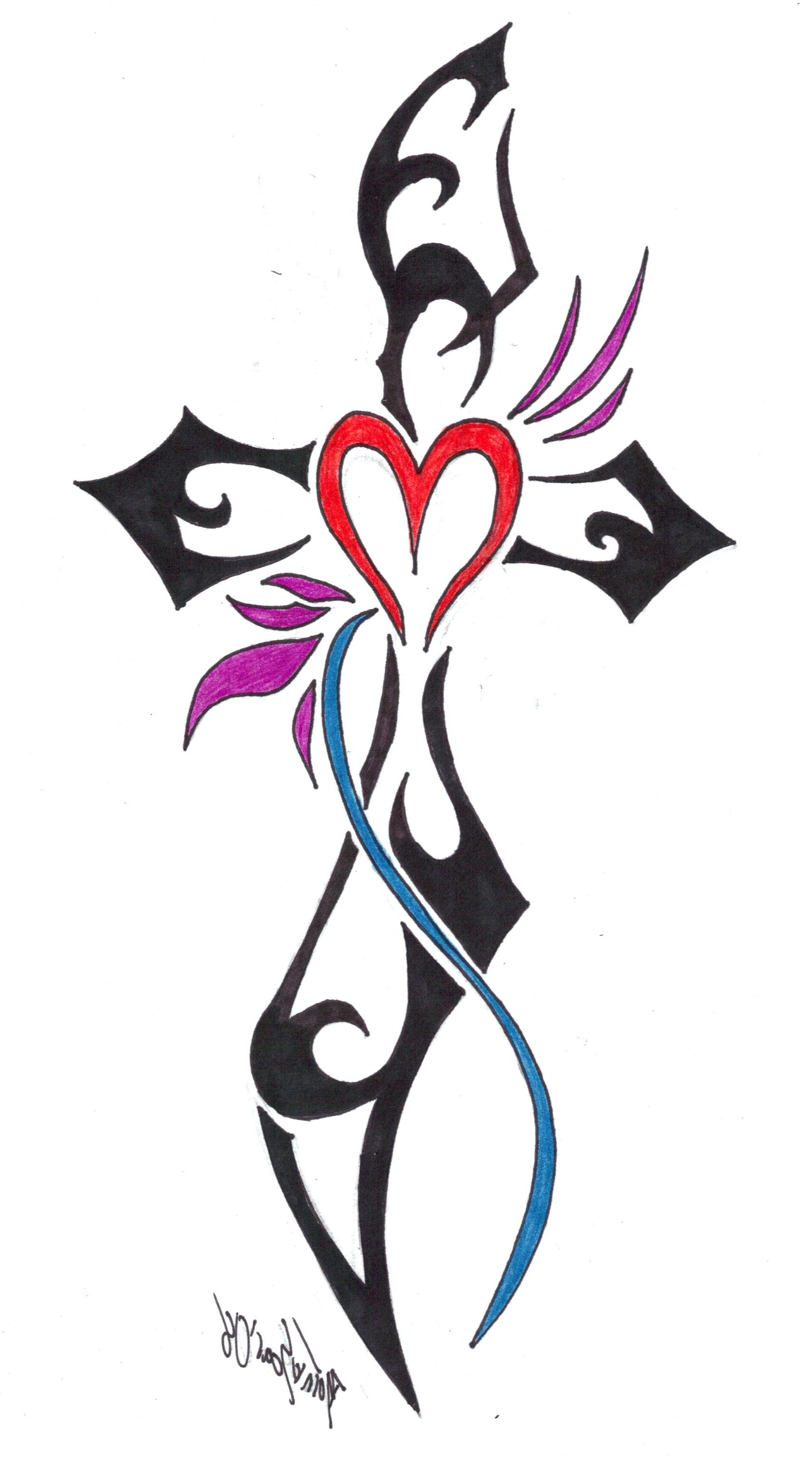 1700x3053 Cool Tribal Cross Tattoos Images About Cross