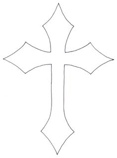 236x319 Cross Pattern. Use The Printable Outline For Crafts, Creating