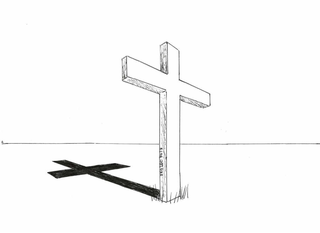 1024x746 Simple Cross Drawing How To Draw Cool Crosses Clipartsco