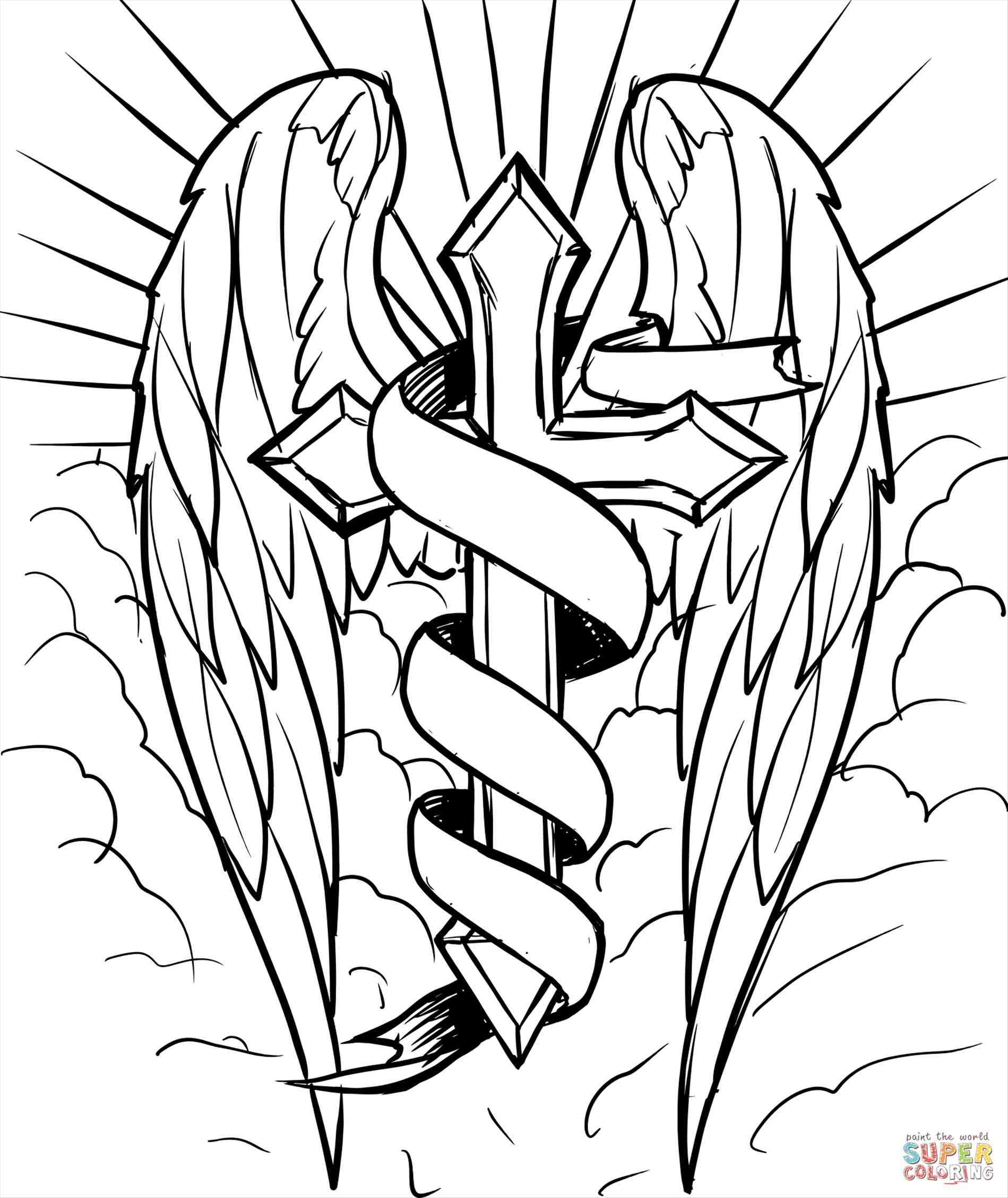 1899x2256 Cool Drawings Of Cross With Wings
