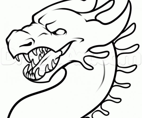 600x500 Catchy Easy Todraw Dragons Easy Drawings Along With A Flying