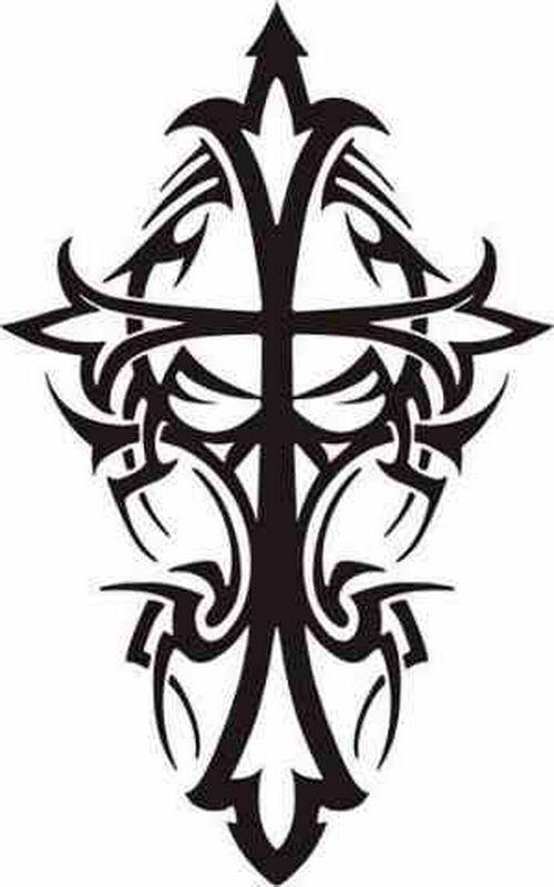500x800 Best Tribal Cross Tattoos Ideas Cross Tattoo