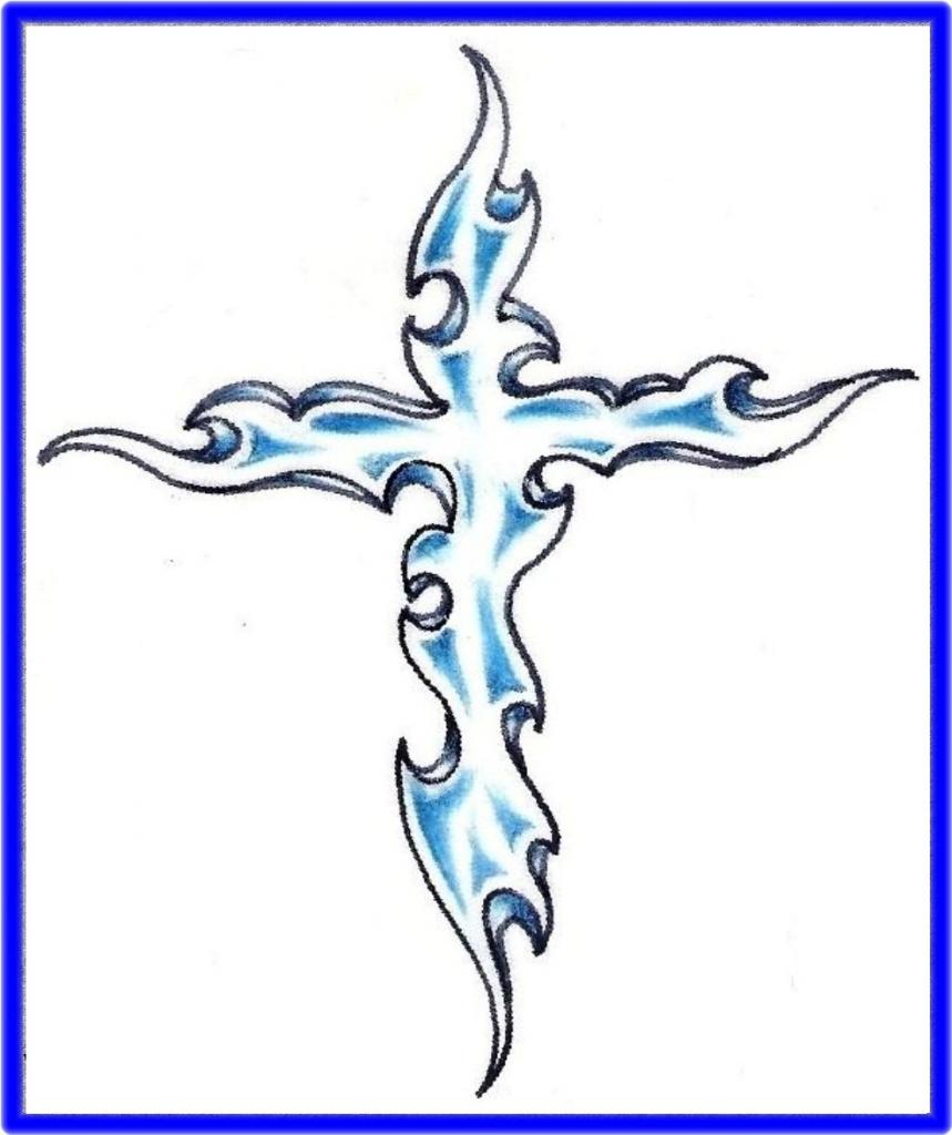 859x1024 Drawings Of Crosses