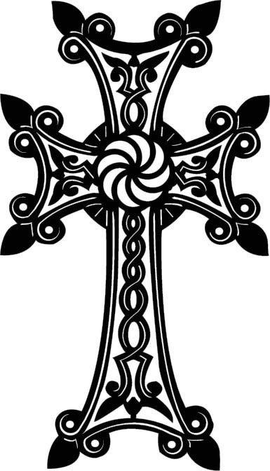 385x672 Drawn Cross Ornamental