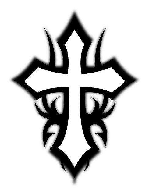 489x640 Drawn Cross Trible