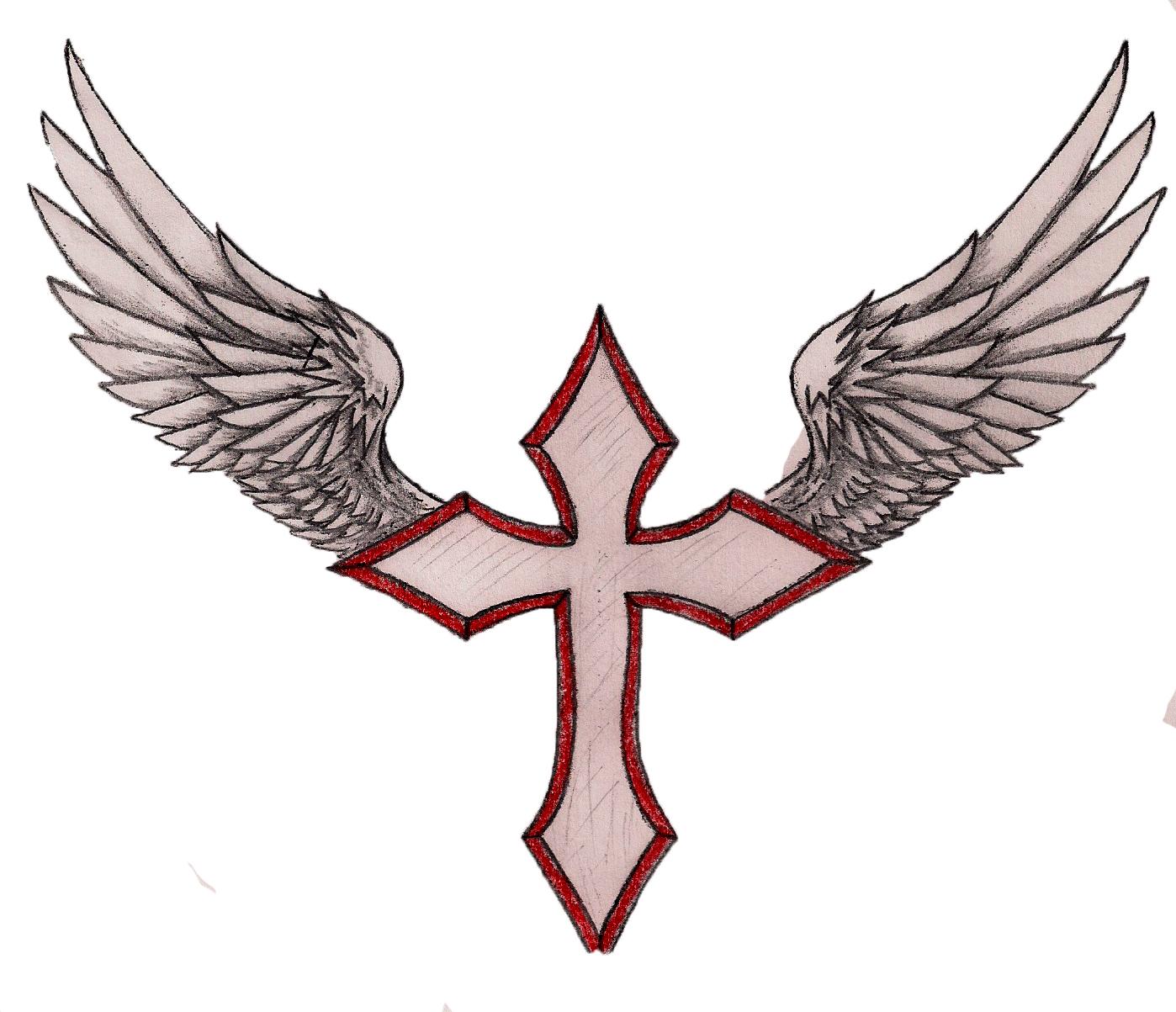 1398x1203 Wings Clipart Cross