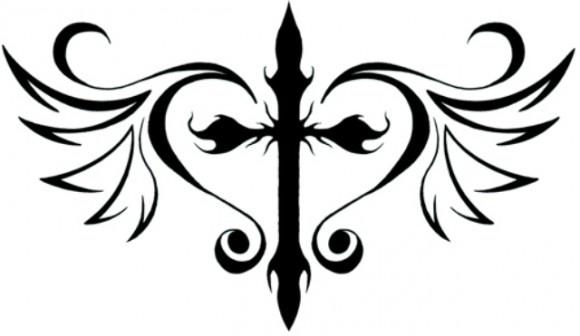 580x336 Cool Cross Tattoo Designs 1