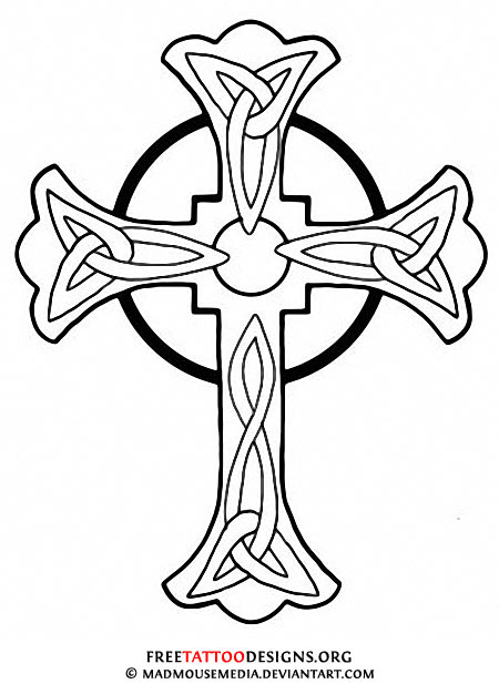 450x617 50 Cross Tattoos Tattoo Designs Of Holy Christian, Celtic