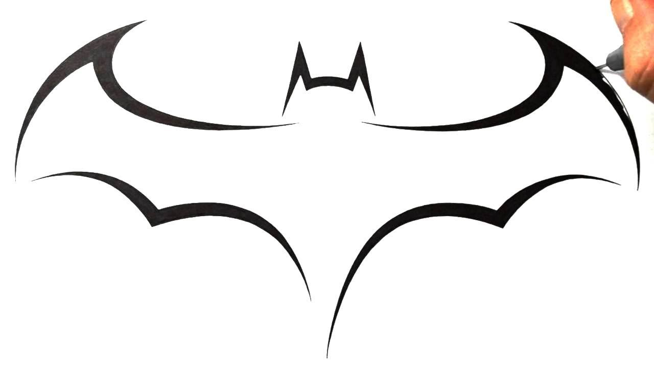 1280x720 Cool Simple Drawing Designs How To Draw Batman Logo