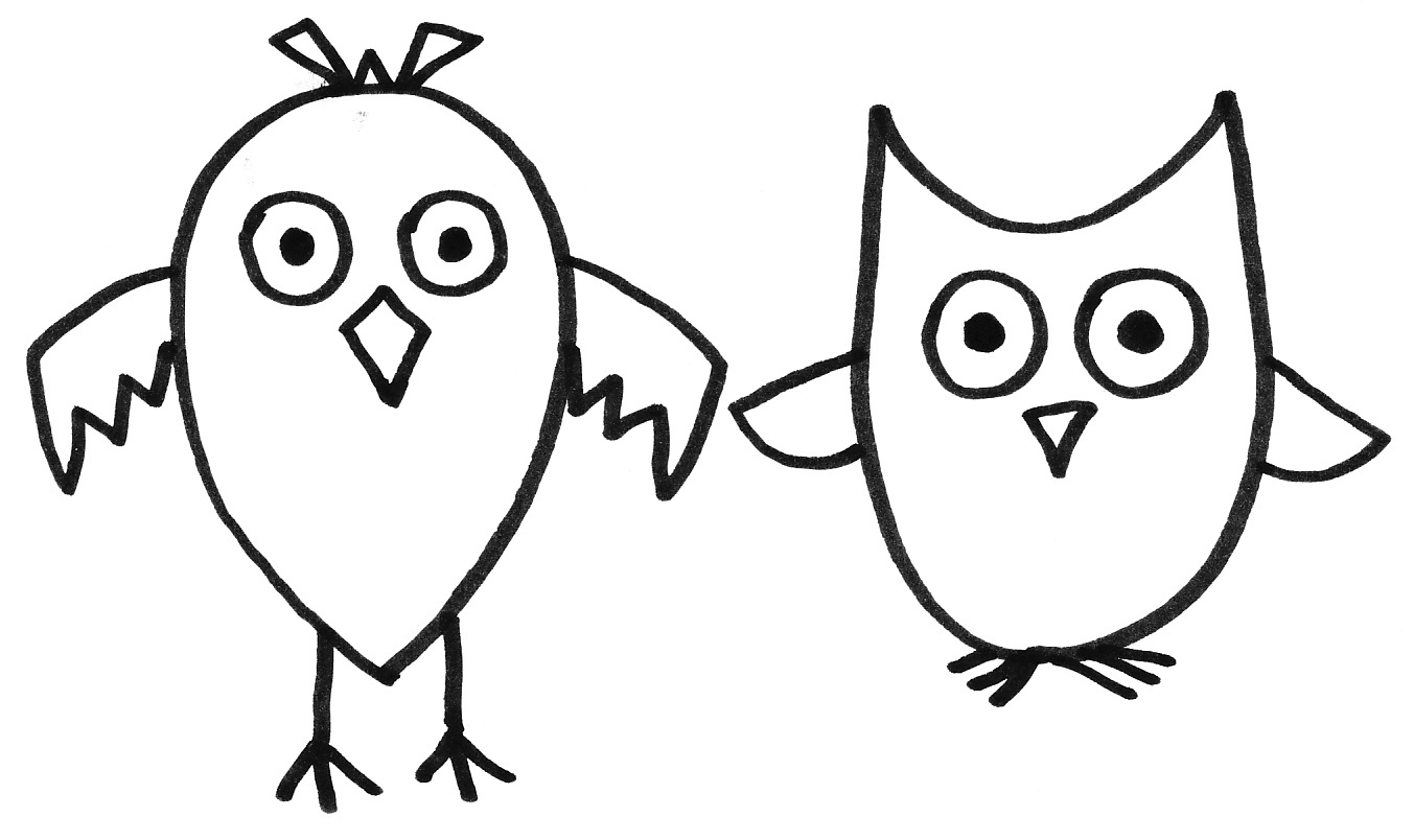 1353x804 Owl Cool Simple Designs To Draw Margusriga Baby Party Technique