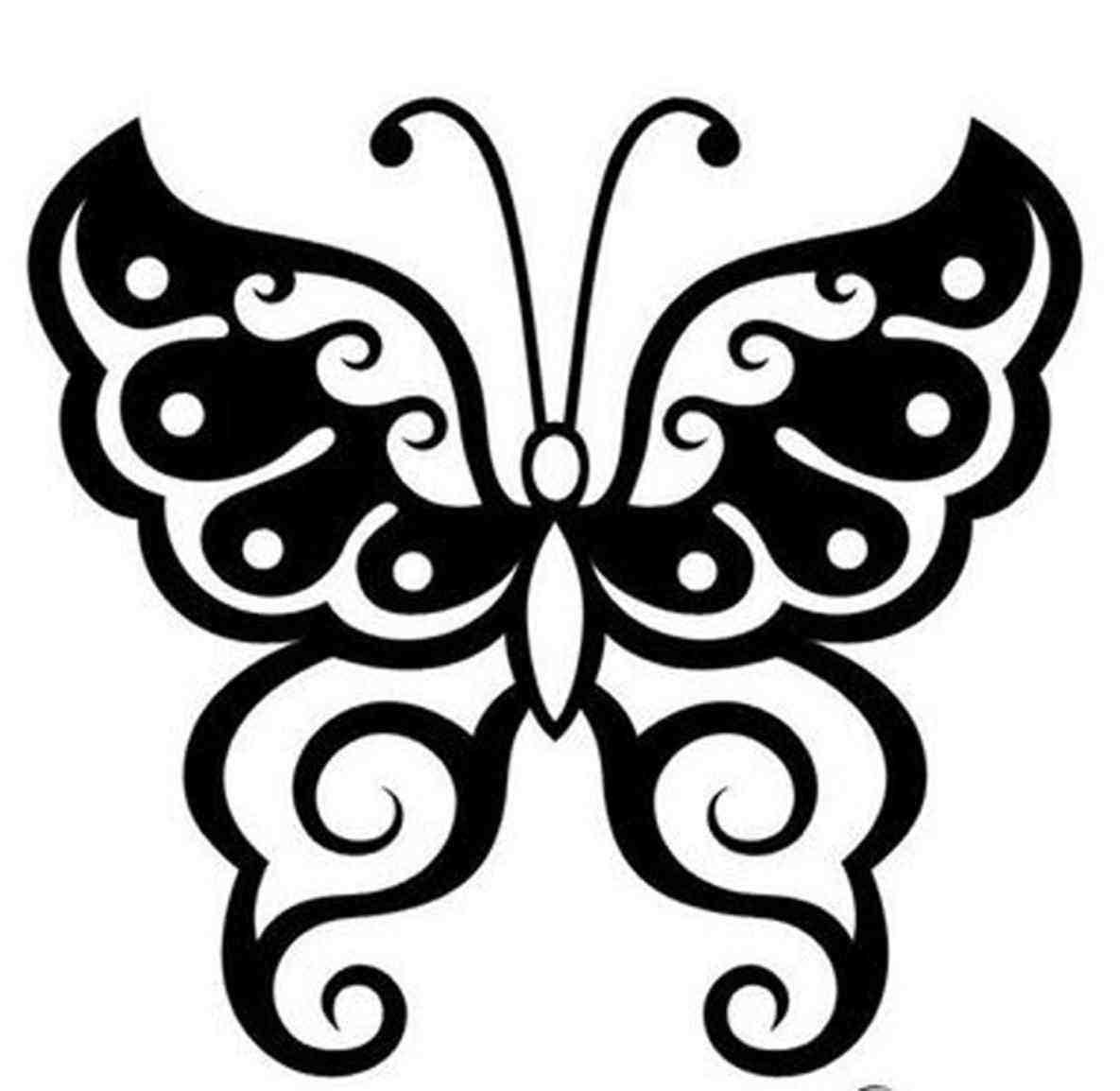 1185x1154 Cool Butterfly Designs To Draw