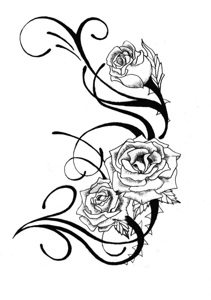 721x1024 Rose Drawing Designs Cool Rose Designs To Draw Clipart Best