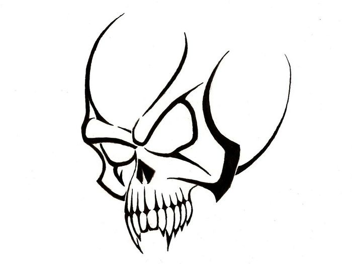 700x525 Simple Tribal Skull Tattoo Designs Tattoo Designs