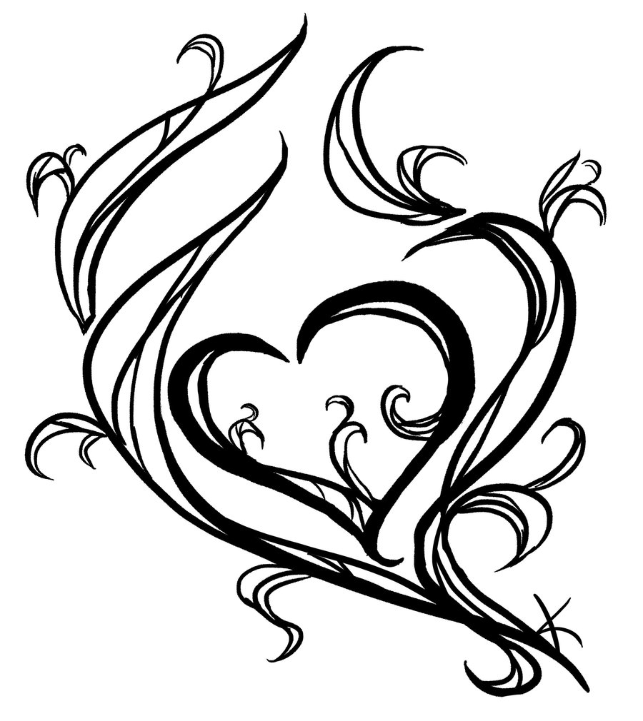 900x1010 Tattoo's For Gt Tattoo Drawings Of Hearts Heart Tattoo Drawing