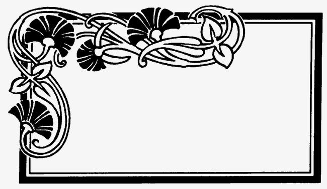 650x377 Elegant Hand Painted Flowers Border, Brush Textures, Cool Borders