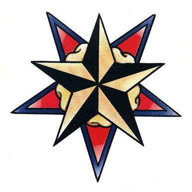 385x385 Cool Star Designs Star Retro Tattoo Garden Design Images