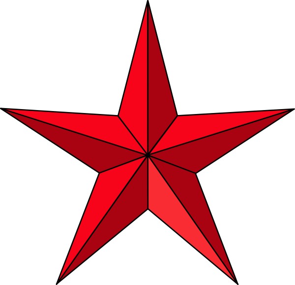 600x580 Red Star Clip Art