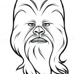 150x150 Great Cool Chewbacca Coloring Pages Print Easy Drawings Star Wars