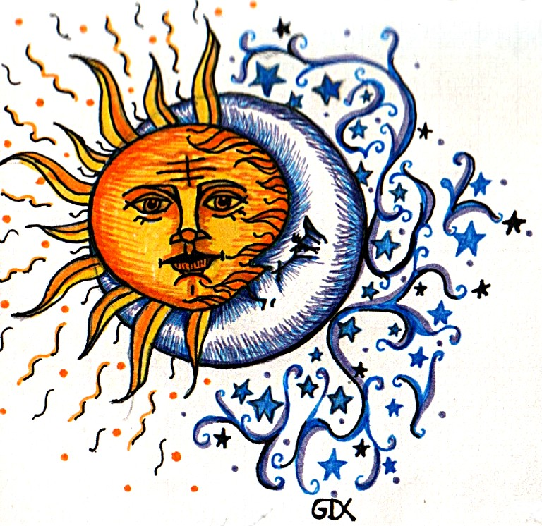 768x746 Sun Moon Tattoo By Faerone