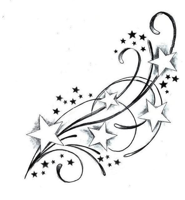 592x640 Best Shooting Star Tattoos Ideas Star Tattoos
