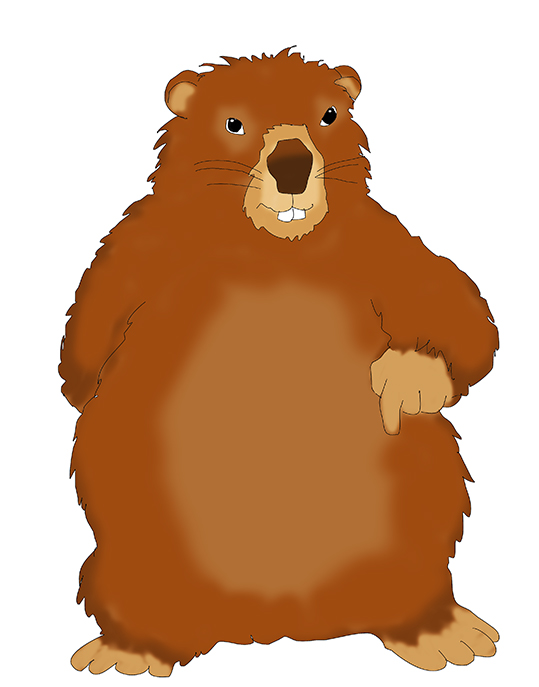 539x687 Groundhog Day Clipart